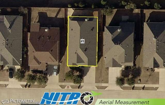 Satellite photography of a house's roof